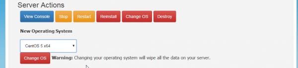 Change OS